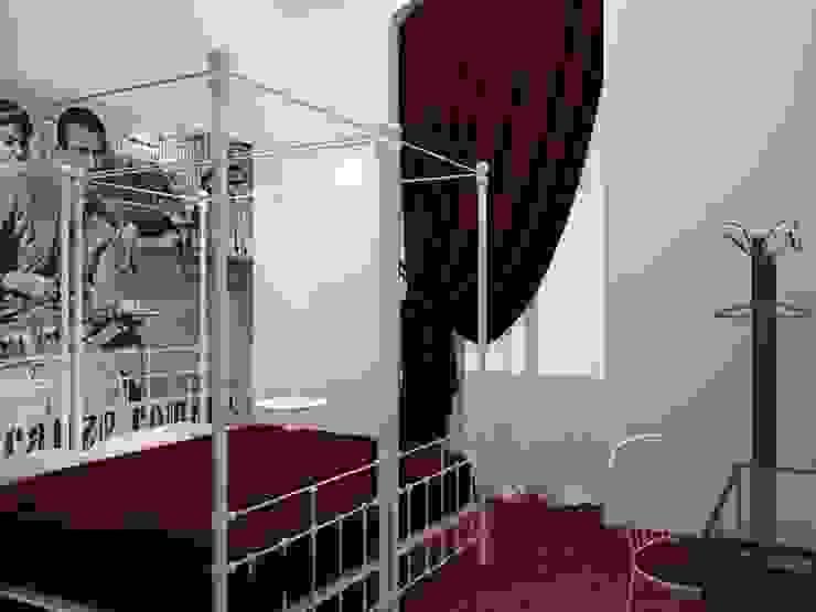 Render della camera 3 di ibedi laboratorio di architettura Rustico