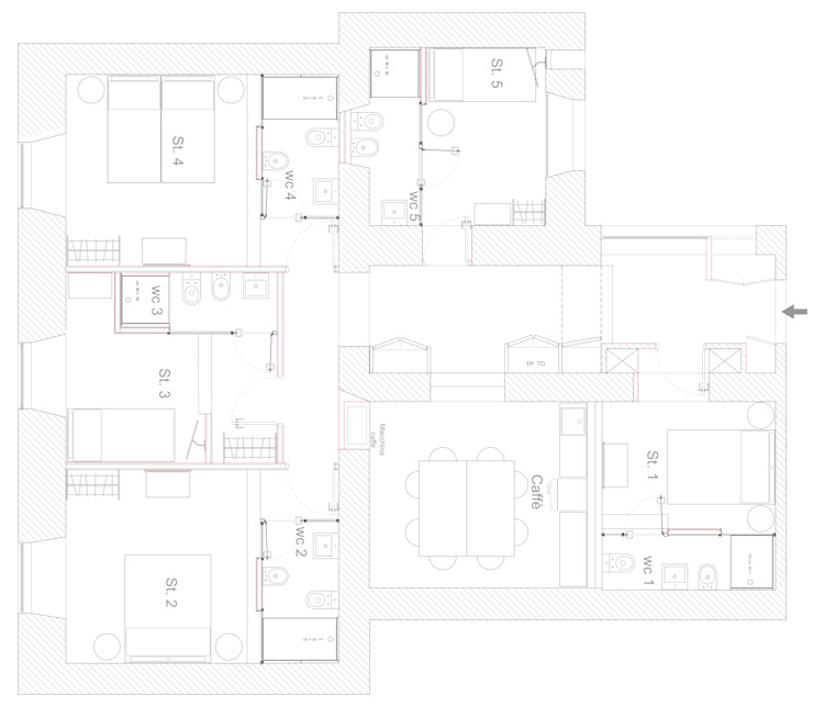 Pianta del Post di ibedi laboratorio di architettura Rustico
