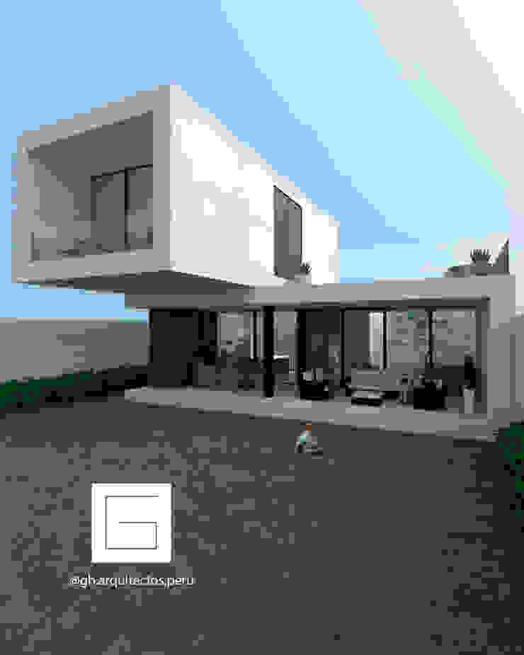 vista de fachada interior GH Arquitectos Casas unifamiliares Concreto