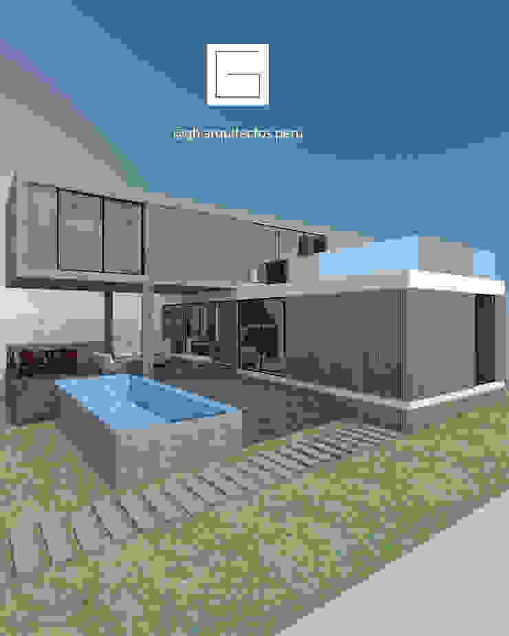 vista fachada de GH Arquitectos Moderno