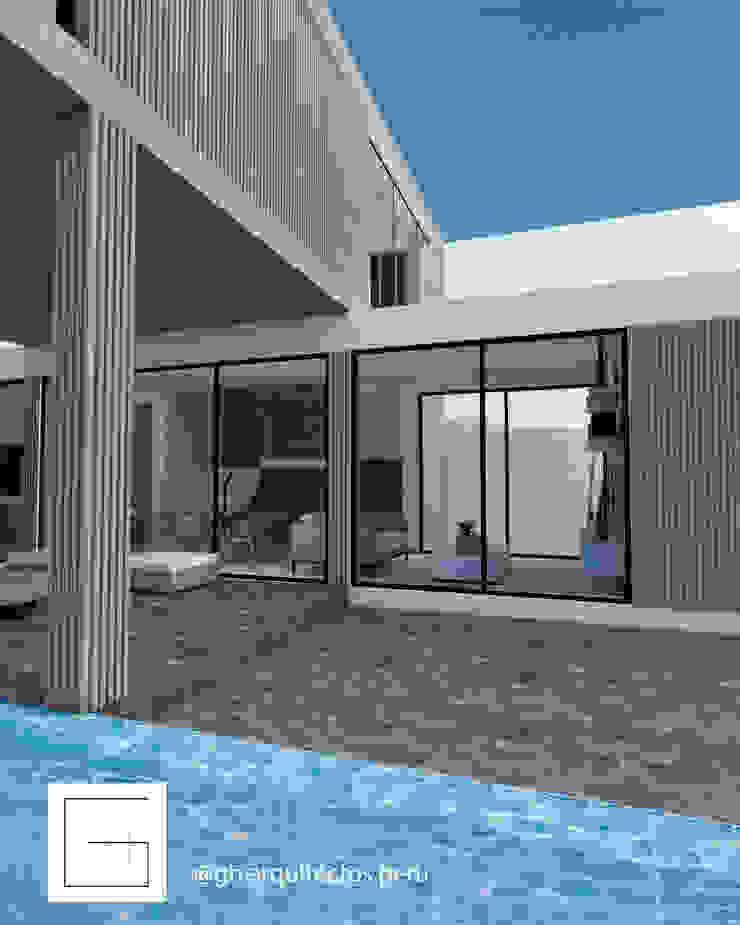 vista desde piscina de GH Arquitectos Moderno