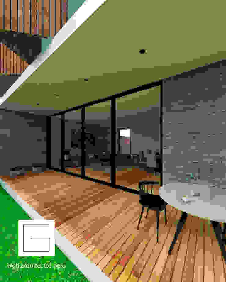 Modern Terrace by GH Arquitectos Modern