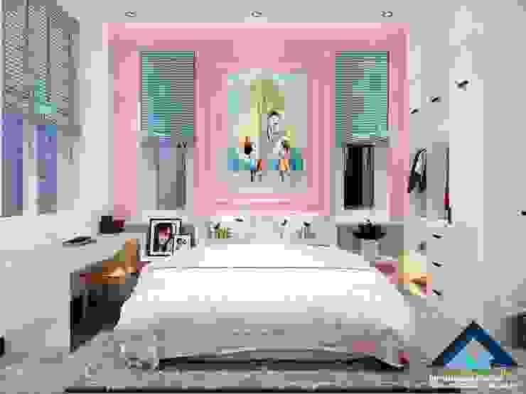 Phòng ngủ cho em bé bởi Công ty Kiến trúc Á Âu
