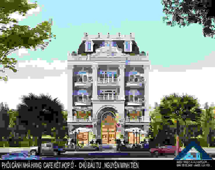 Mặt tiền phía trước bởi Công ty Kiến trúc Á Âu