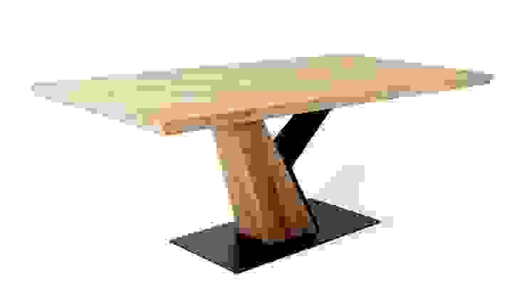 EPIC | Imposanter Designertisch aus Massivholz und Alteisen Naturnah Möbel Ausgefallene Esszimmer Massivholz Braun