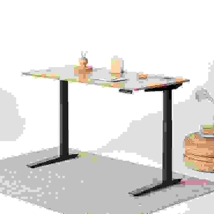 Bàn làm việc chân sắt: hiện đại  by NoithatVp, Hiện đại Gỗ Wood effect
