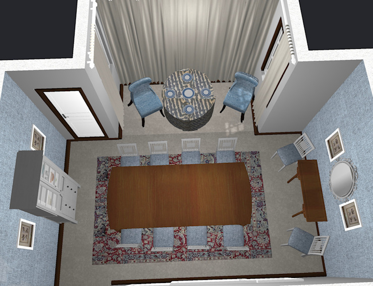 Render for Dining Room Classic style dining room by CS DESIGN Classic