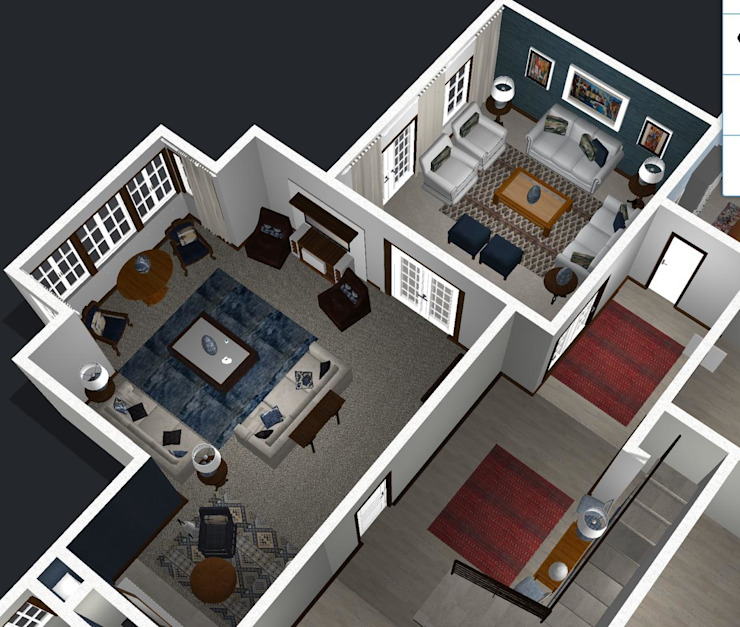 Final swopped rooms layouts by CS DESIGN Classic