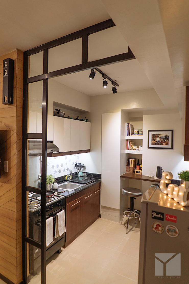 Work Life Balance Industrial style kitchen by Hayen Interiors Industrial