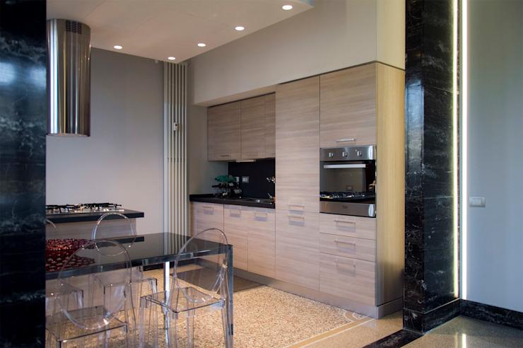 OPA Architetti Built-in kitchens Wood Wood effect