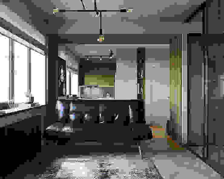 Кухня-гостиная Гостиная в стиле лофт от Дизайнер Ольга Крысова Лофт