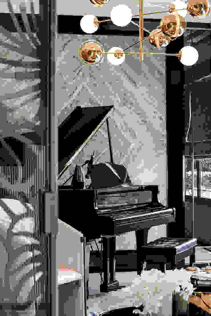 The pavilla residence-hypestudio Hypestudio ห้องนั่งเล่น หิน Grey
