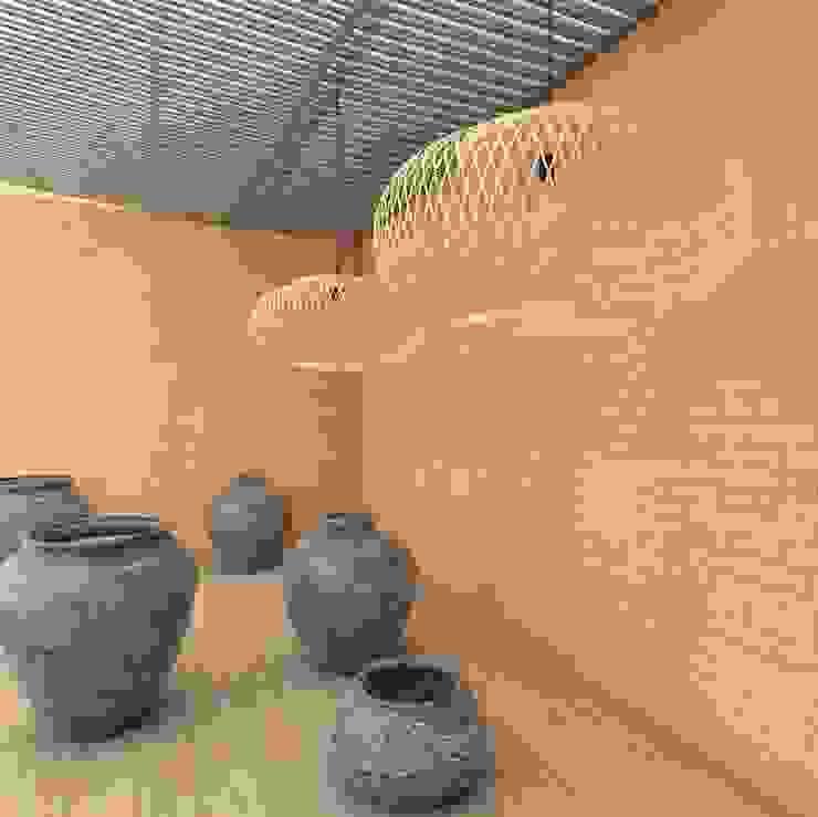 tijolinho, tijolos, brick, bricks, tijoletas, rustico, natural Espaços comerciais rústicos por CERÂMICA NATUTERRA Rústico Cerâmica