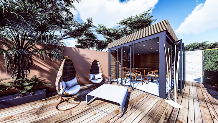 Projeto de Requalificação dos espaços exteriores de Moradia Unifamiliar 88 Design & Paisagismo Piscinas modernas