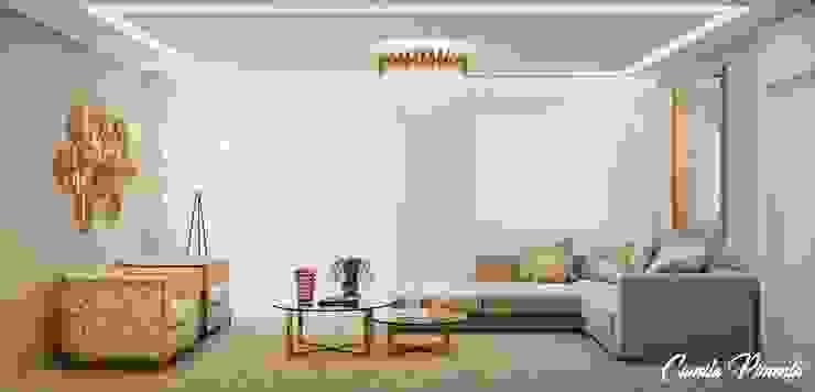 living Salas de estar modernas por Camila Pimenta | Arquitetura + Interiores Moderno Mármore