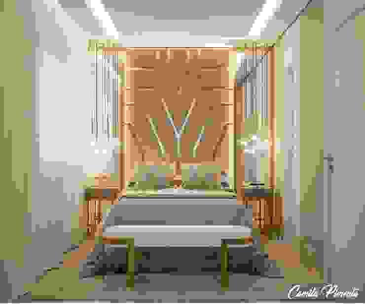 Quarto Master por Camila Pimenta | Arquitetura + Interiores Moderno Madeira Efeito de madeira