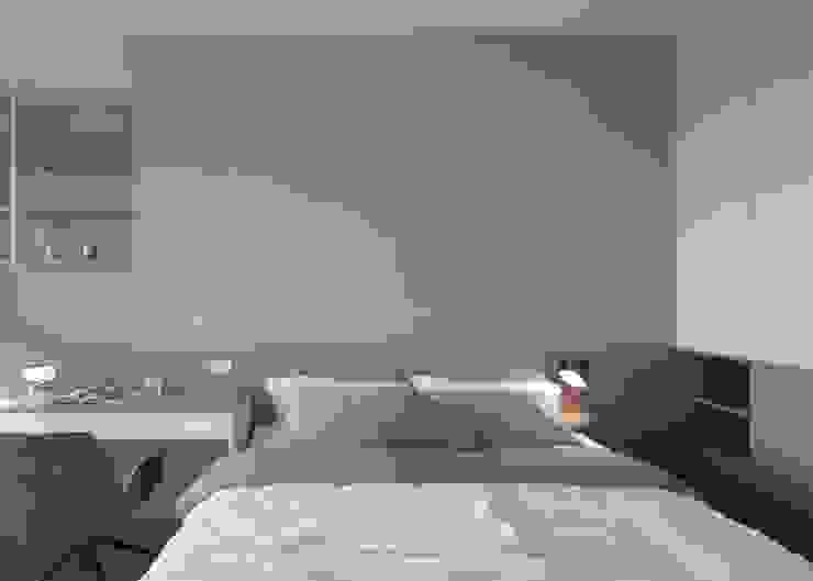 臥房設計 現代浴室設計點子、靈感&圖片 根據 極簡室內設計 Simple Design Studio 現代風