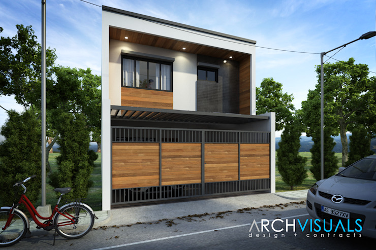 Exterior Perspective: modern  by Archvisuals Design + Contracts, Modern