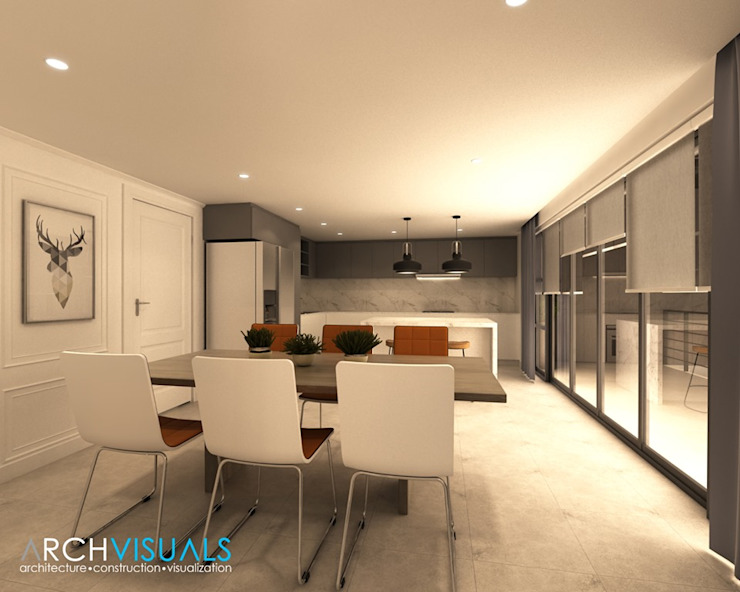 B Architectural Interiors Archvisuals Design + Contracts Classic style dining room
