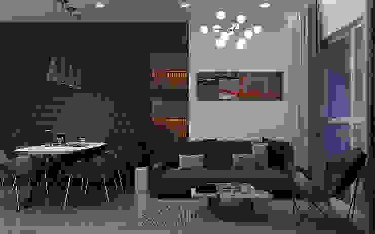 Một góc phòng khách căn hộ Vinhomes Grand Park 3 Phòng ngủ: tối giản  by Công ty TNHH QPDesign, Tối giản