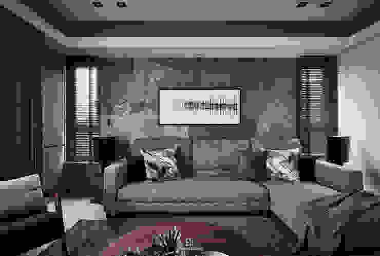 巧域設計-墨賞 现代客厅設計點子、靈感 & 圖片 根據 巧域設計 現代風