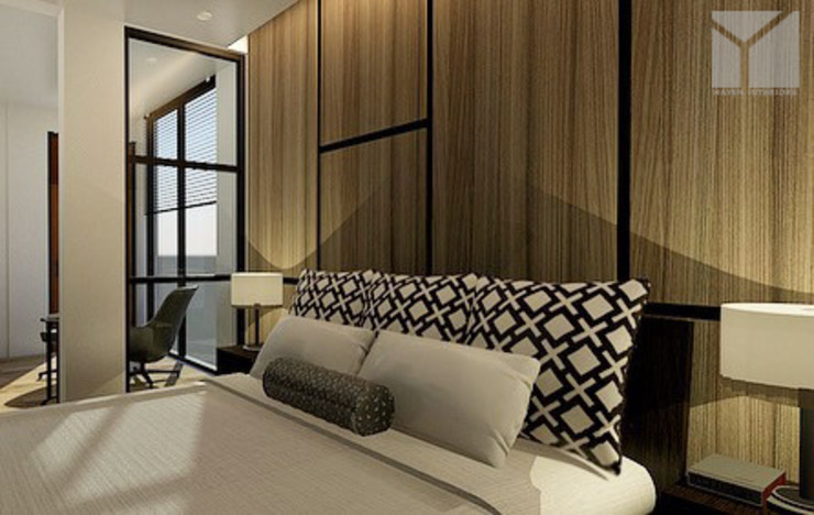 Industrial + Modern Modern style bedroom by Hayen Interiors Modern