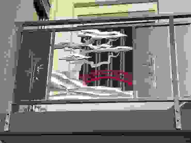 Japanisches Edelstahl Balkongeländer Edelstahl Atelier Crouse: Balkon