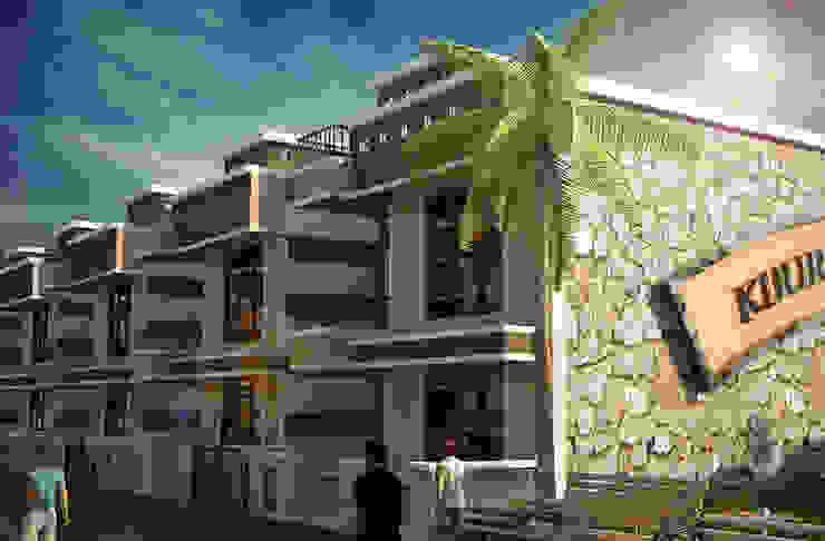 Khursheed Babu Colony Trygve Engineering Pvt Ltd. Multi-Family house Brown