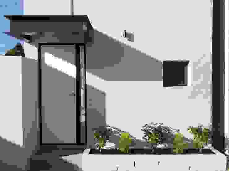 front facade details by LEAF Architects Modern Bricks