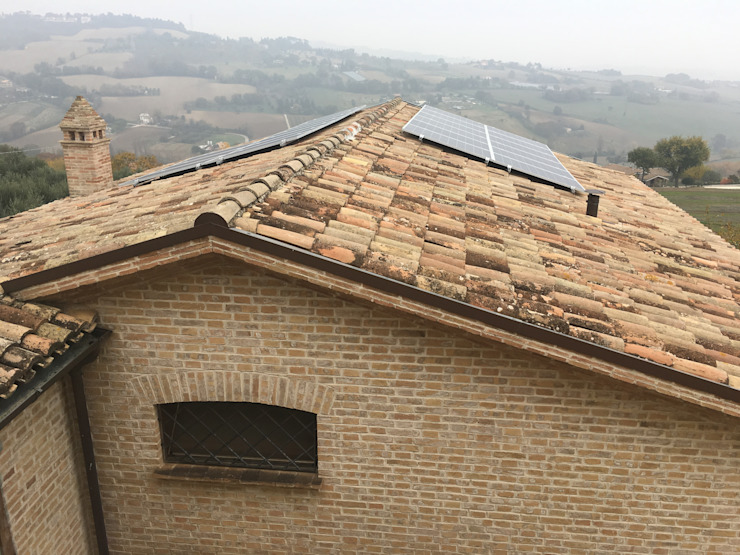 Installazione impianto fotovoltaico Ing. Andrea Catena Tetto a falde