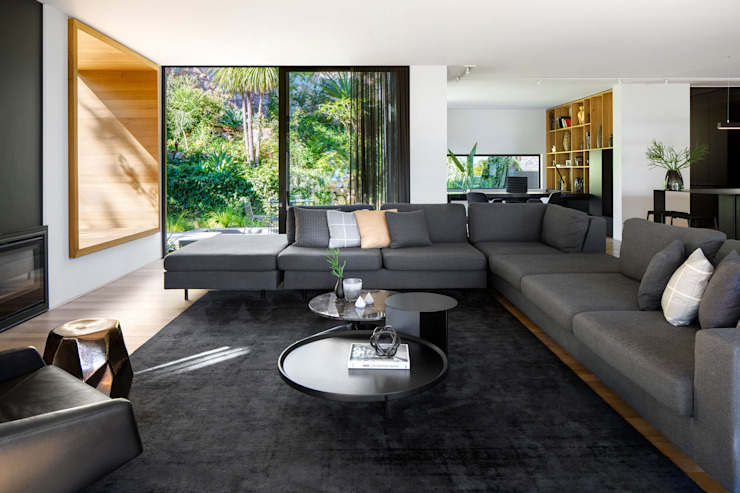 Wright Architects Modern Living Room Black