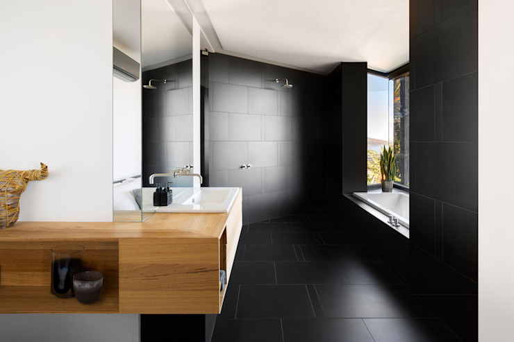 Wright Architects Modern Bathroom Tiles Black