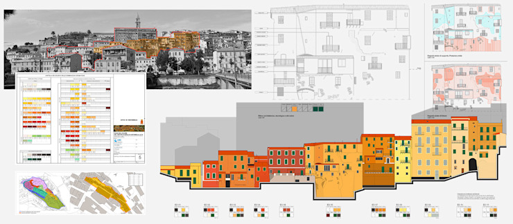 Progetto del colore di Ventimiglia Alta di Alessio Costanzo Architetto