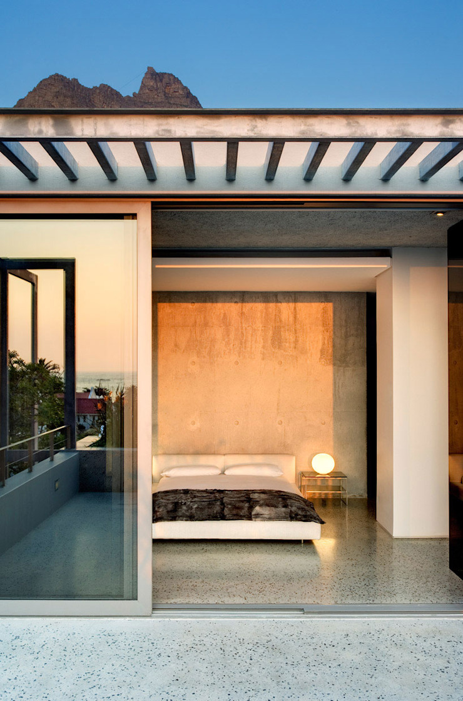 Wright Architects Kamar tidur kecil Beton Grey