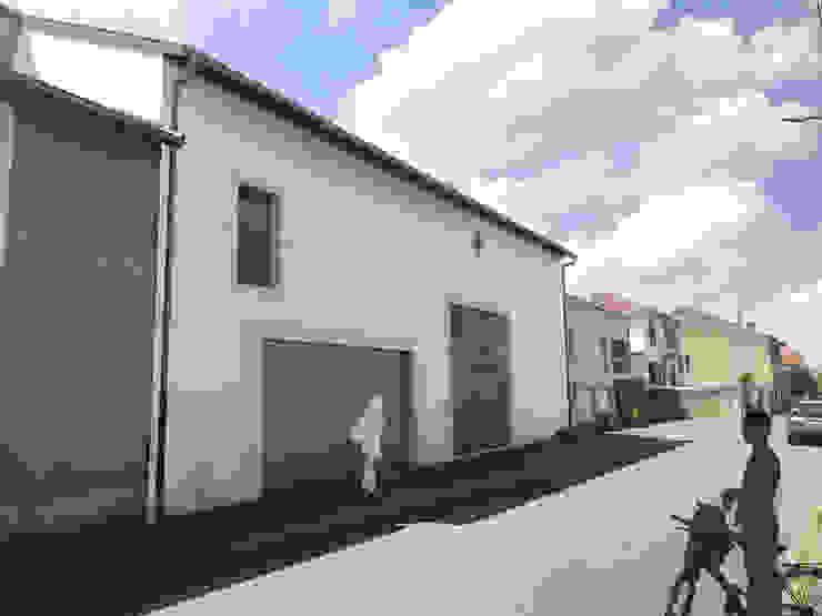 Vue d'insertion depuis la rue par 3B Architecture Moderne