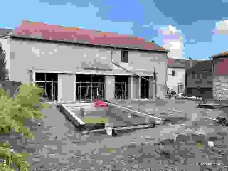 Travaux - Réalisation des nouvelles baies et de la piscine par 3B Architecture Moderne