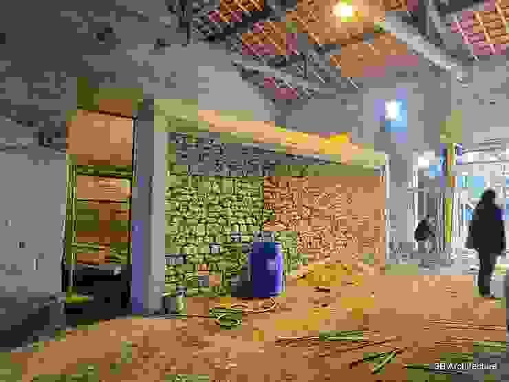 Travaux - Réutilisation du mur existant Murs & Sols modernes par 3B Architecture Moderne
