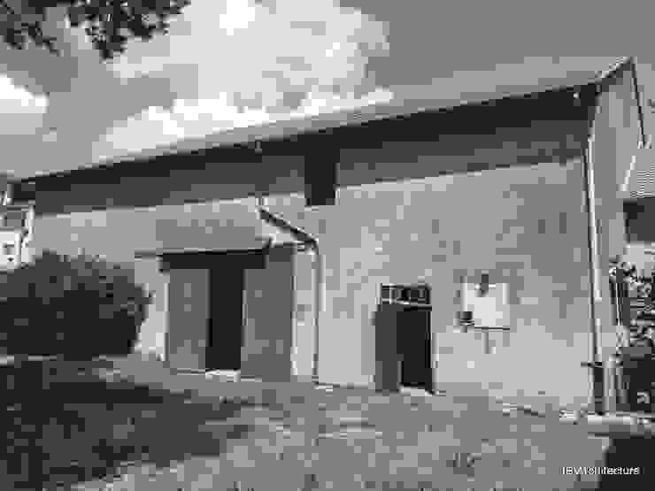 Etat existant - Façade de la grange côté jardin par 3B Architecture Moderne