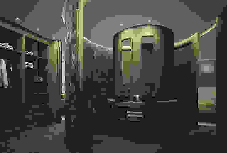 Baño circular DyD Interiorismo - Chelo Alcañíz Baños de estilo clásico Compuestos de madera y plástico Verde