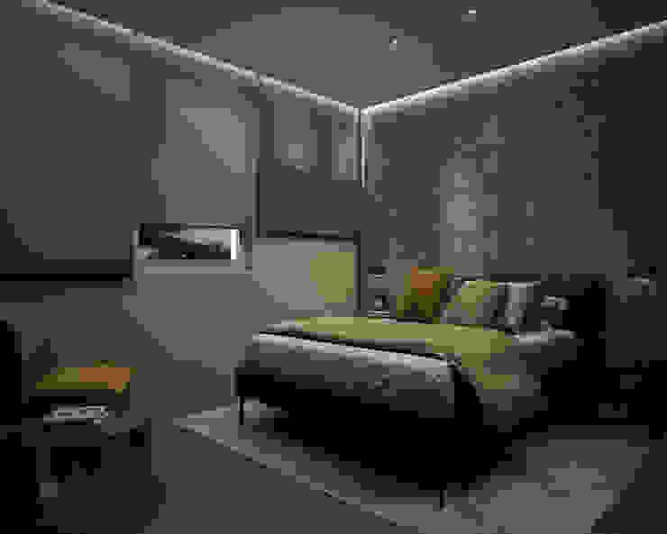 Dormitorio DyD Interiorismo - Chelo Alcañíz Cuartos de estilo clásico Contrachapado Marrón
