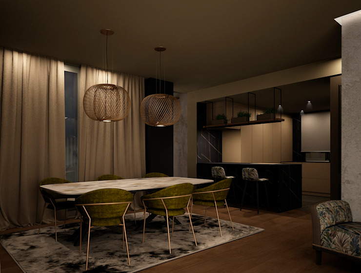 Comedor DyD Interiorismo - Chelo Alcañíz Salas de estilo clásico Contrachapado Verde