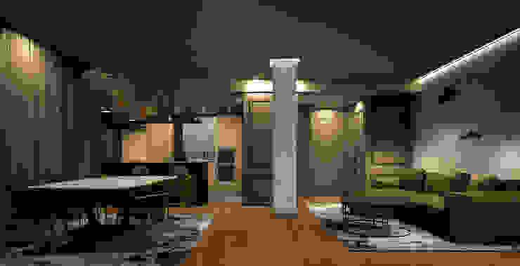 Salón comedor con acceso a cocina DyD Interiorismo - Chelo Alcañíz Salas de estilo clásico Contrachapado Verde