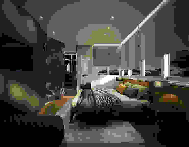 Dormitorio DyD Interiorismo - Chelo Alcañíz Cuartos de estilo clásico Derivados de madera Verde