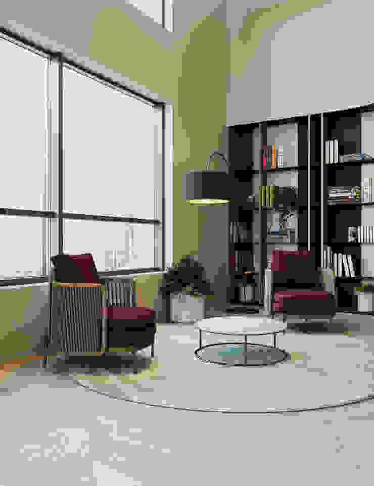 Zikzak architects Ruang Komersial Modern