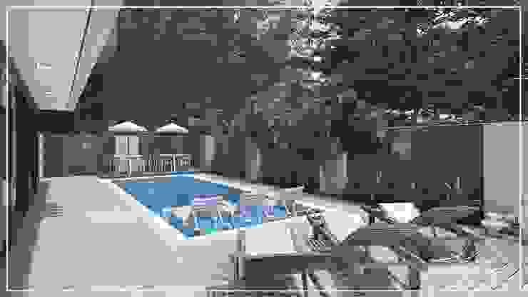 Piscina Juan Jurado Arquitetura & Engenharia Piscinas de jardim Azulejo Azul