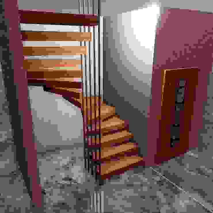 Ahşap Taşıyıcılı Dubleks Merdivenler MERDİVENCİ Modern Ahşap Ahşap rengi