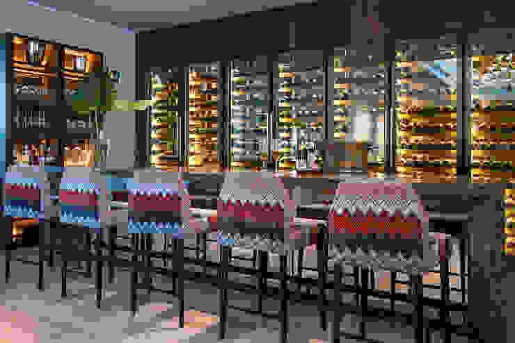 Home Bar Design with Wine Display Design Intervention Modern living room