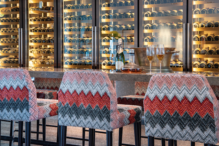 Modern Home Bar Design with Bar Stools Design Intervention Modern living room