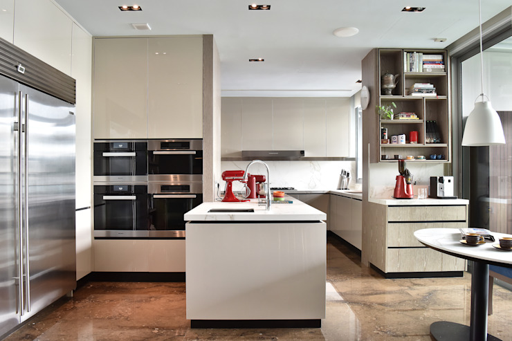 Penthouse Kitchen Design with Marble Countertops Design Intervention Kitchen units