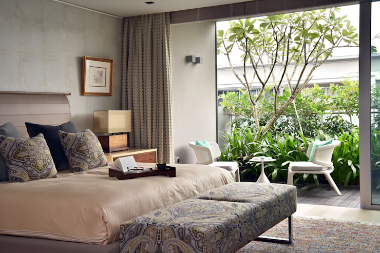 Bedroom decor with cosy outdoor area Design Intervention Modern style bedroom